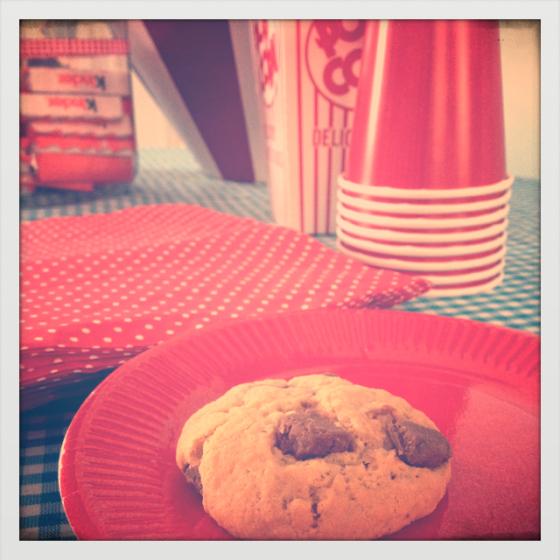 Cookies au beurre de cacahuètes-pralinoise
