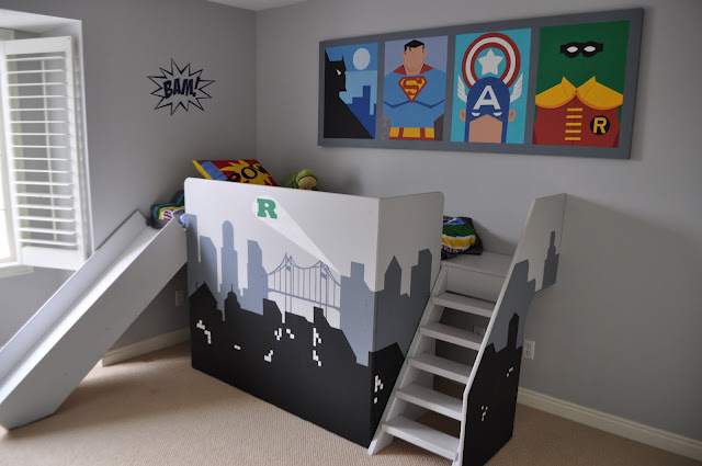 d co chambre garcon super heros. Black Bedroom Furniture Sets. Home Design Ideas