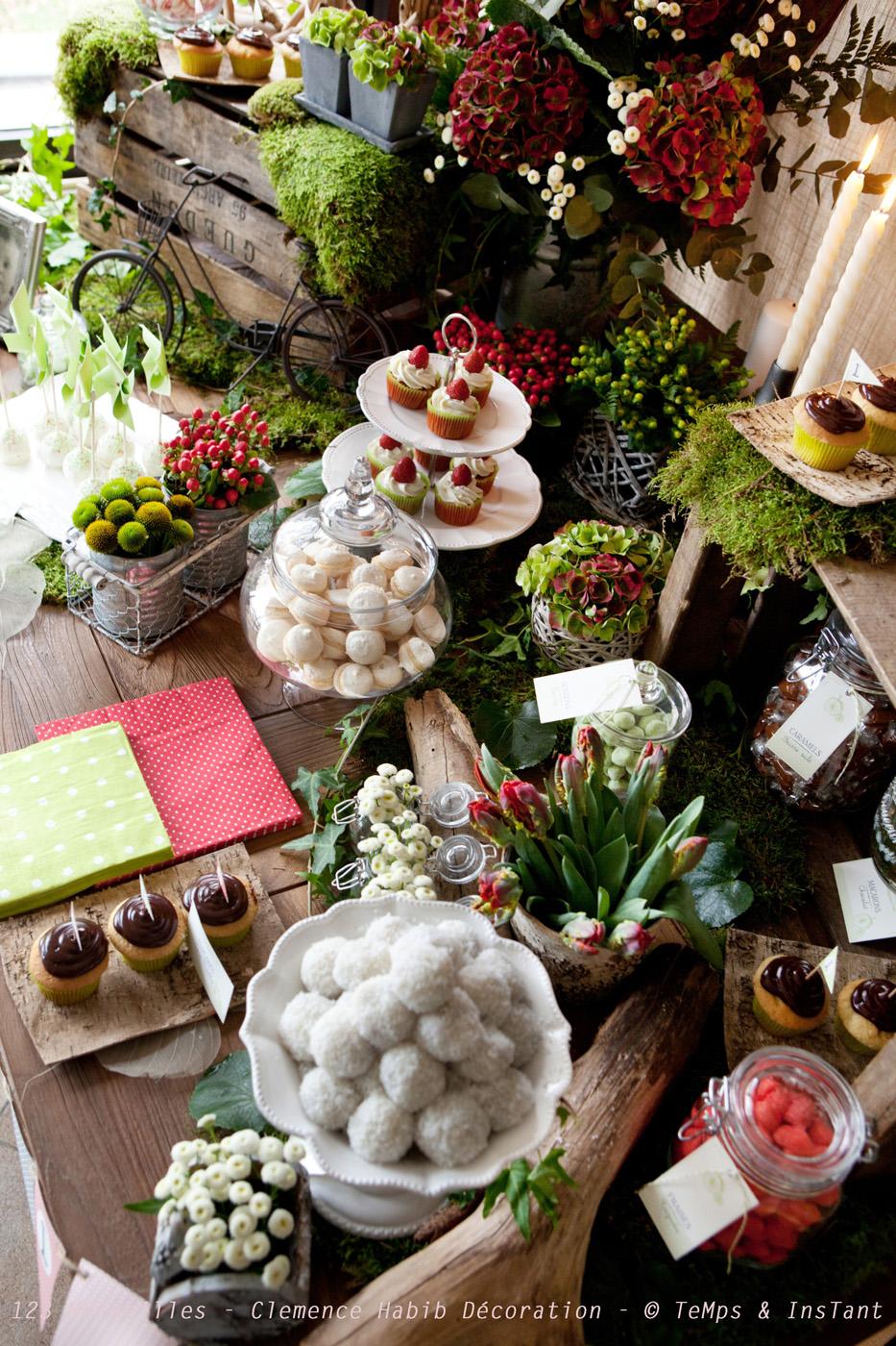 Une table r tro champ tre pour le 1er anniversaire de - Idee deco table champetre ...