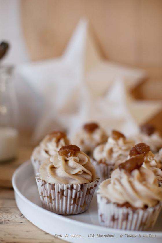 Cupcake aux marrons 123 merveilles