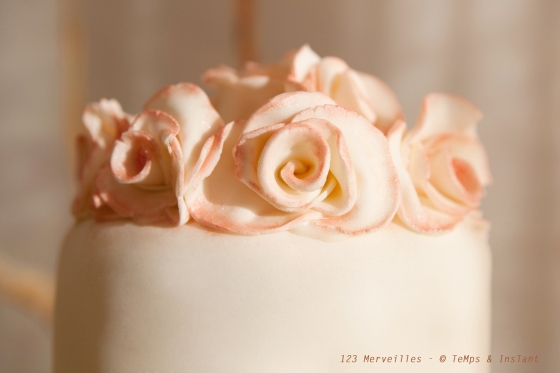 Roses wedding cake 123 merveilles