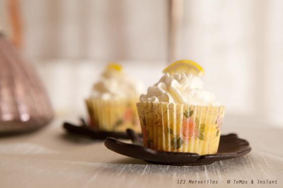 Cupcake citron jaune
