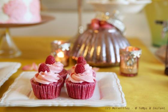 Cupcake framboise chocolat blanc
