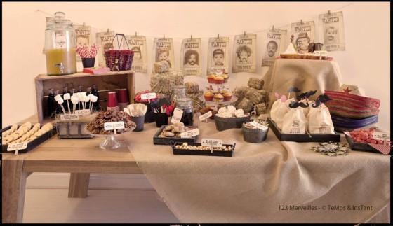 Sweet table Far West Party Anniversaire enfant