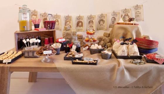 Sweet table Far West Party 123 Merveilles