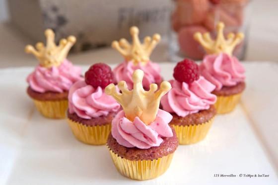 Cupcakes framboises princesse