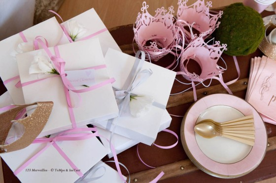 Sweet table princesse petits cadeaux invités