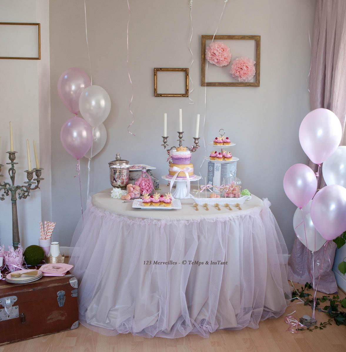 Un anniversaire de princesse pour nellichou 123 - Decoration gateau anniversaire fille princesse ...