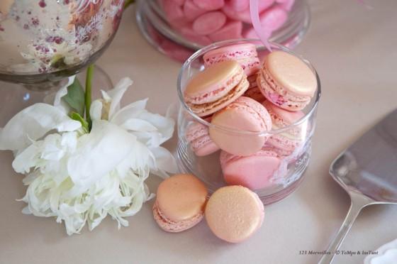 Macarons rose princesse