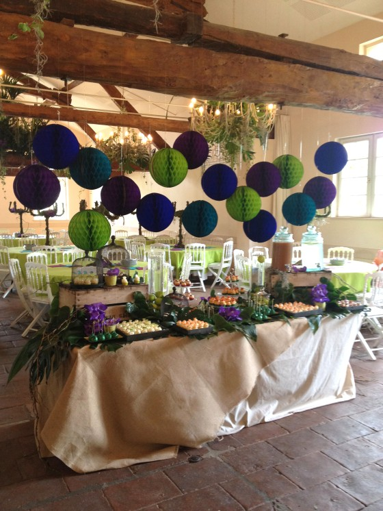 Sweet table jungle brunch mariage 123 Merveilles