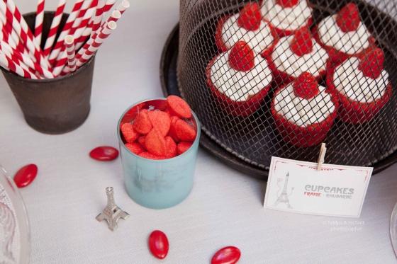 Cupcakes rouges à la fraise