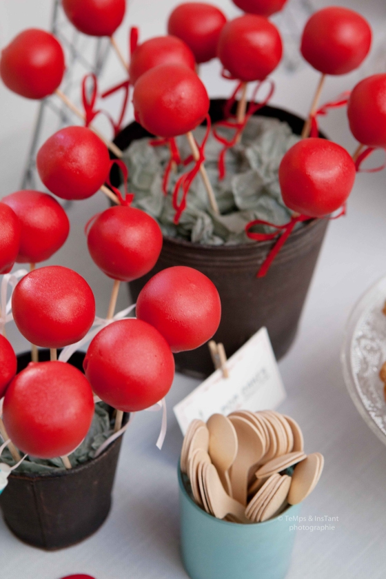 Pop cakes rouges