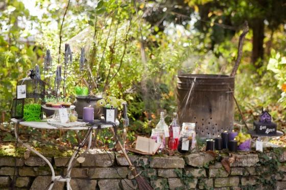 sweet table Halloween sorcière 123 Merveilles