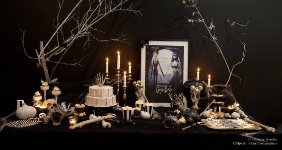 sweet table Halloween black and white 123 Merveilles