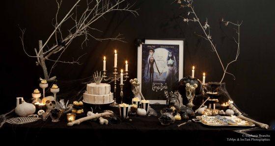 sweet table Halloween black and white 123 Merveilles